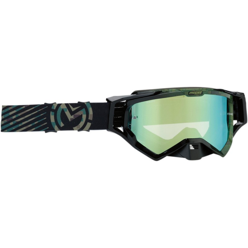 Gogle Moose XCR CAMO GREEN/BLACK ONE SIZE