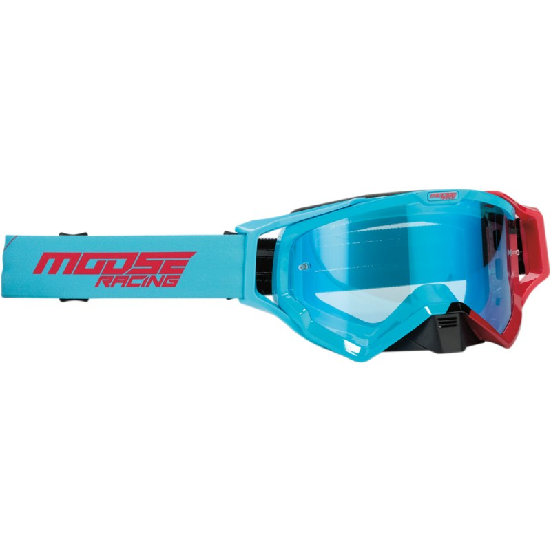 Gogle Moose XCR HATCH BLUE/RED ONE SIZE