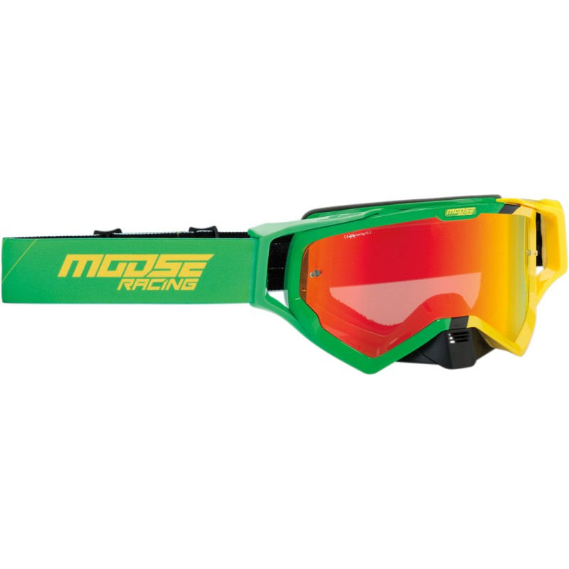 Gogle Moose XCR HATCH GREEN/YELLOW ONE SIZE