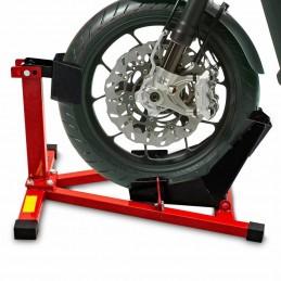 Stojak na przednie koło motocykla - Czerwono-Czarny