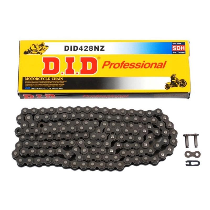 Łańcuch DID 428 NZ-114 (114 Ogniw) Bez O-Ringów (Otwarty + zapinka)