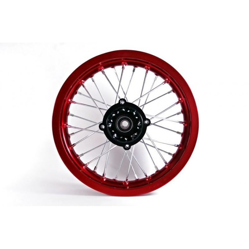 Felga 12 tył 1.85x12' /aluminiowa czerwona/