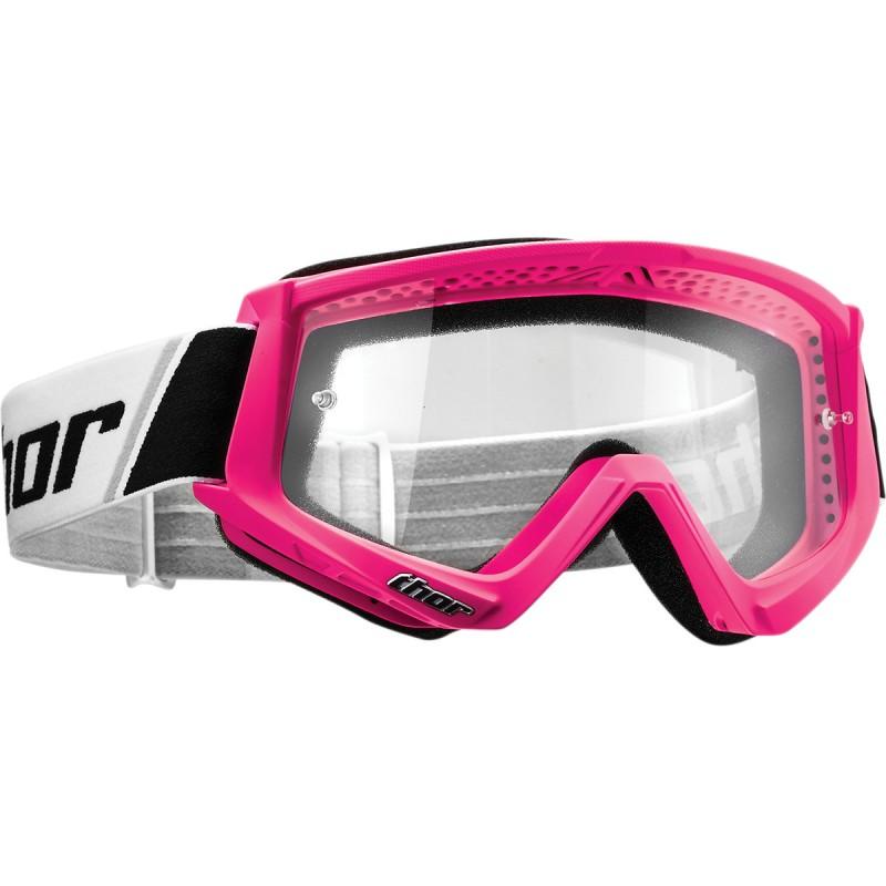 Gogle Thor COMBAT FLO Pink Różowe Fluo