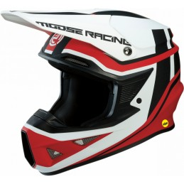 Kask Moose Racing S9 FI Session Red/White MIPS