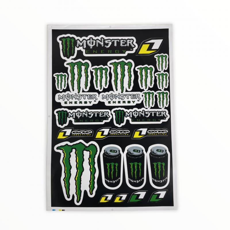 Zestaw naklejek A3 mod 2 - Monster